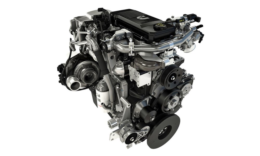 The Cummings straight-six turbodiesel engine makes a whopping 1 261 N.m of torque.