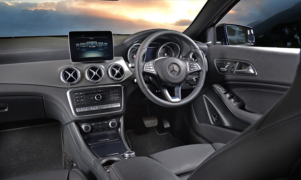 The GLA interior has benefitted from subtle updates.