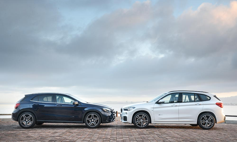 GLA has all-wheel drive, while the X1 tested here is front-wheel drive.