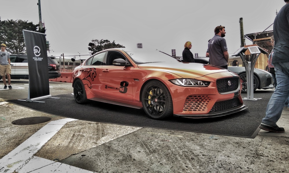 Jaguar was present at Cannery Row to show off its new XE SV Project 8.