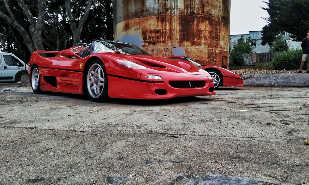 Two of the three F50s that were on show at Cannery Row.