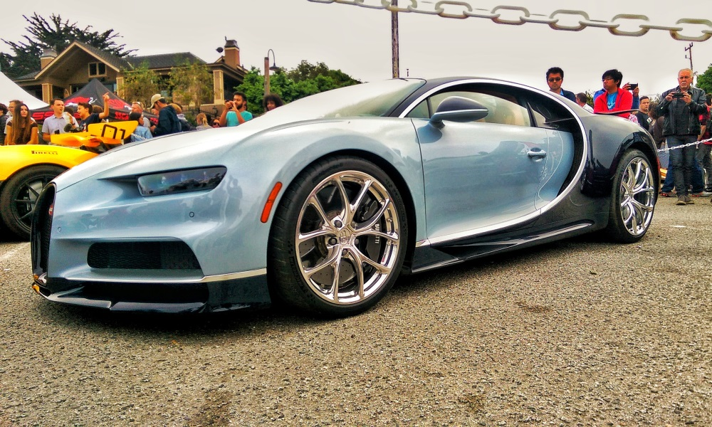 The Bugatti Chiron was definitely a stand-out hypercar at Cannery Row.