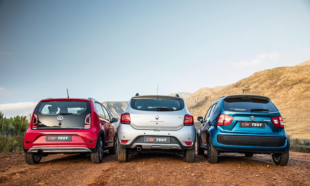 From the rear, the Up! looks solid and the Stepway chunky, while the Ignis is something of an acquired taste.