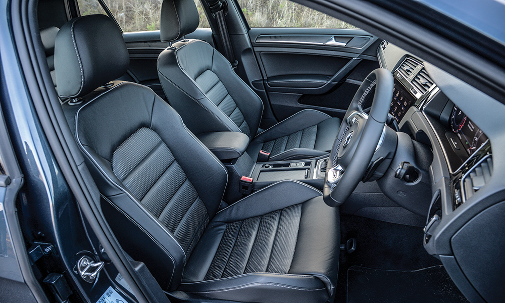 The form-hugging seats in the GTD.