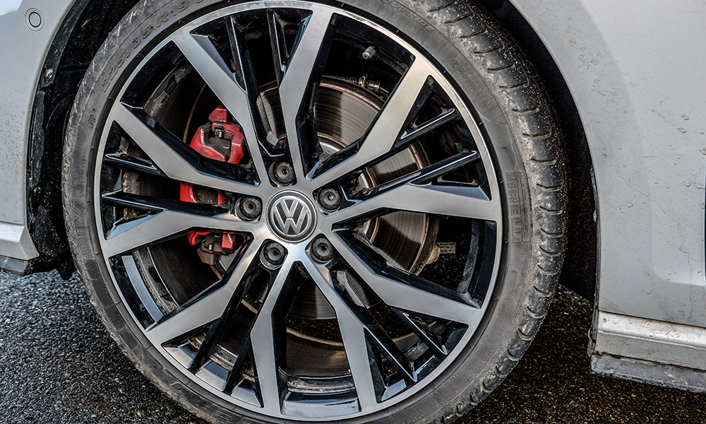 The GTI we tested was fitted with optional 19-inch alloys.