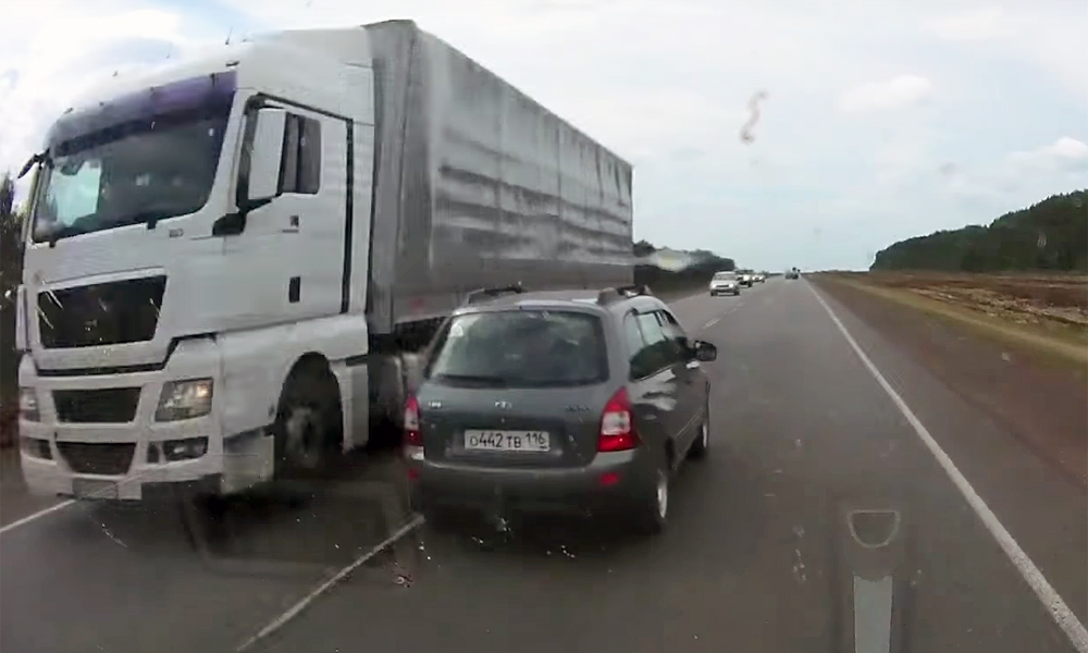 Overtaking move results in crash