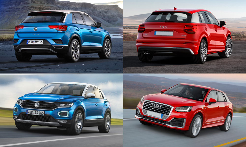 Side By Side New Volkswagen T Roc Vs Audi Q2 Car Magazine