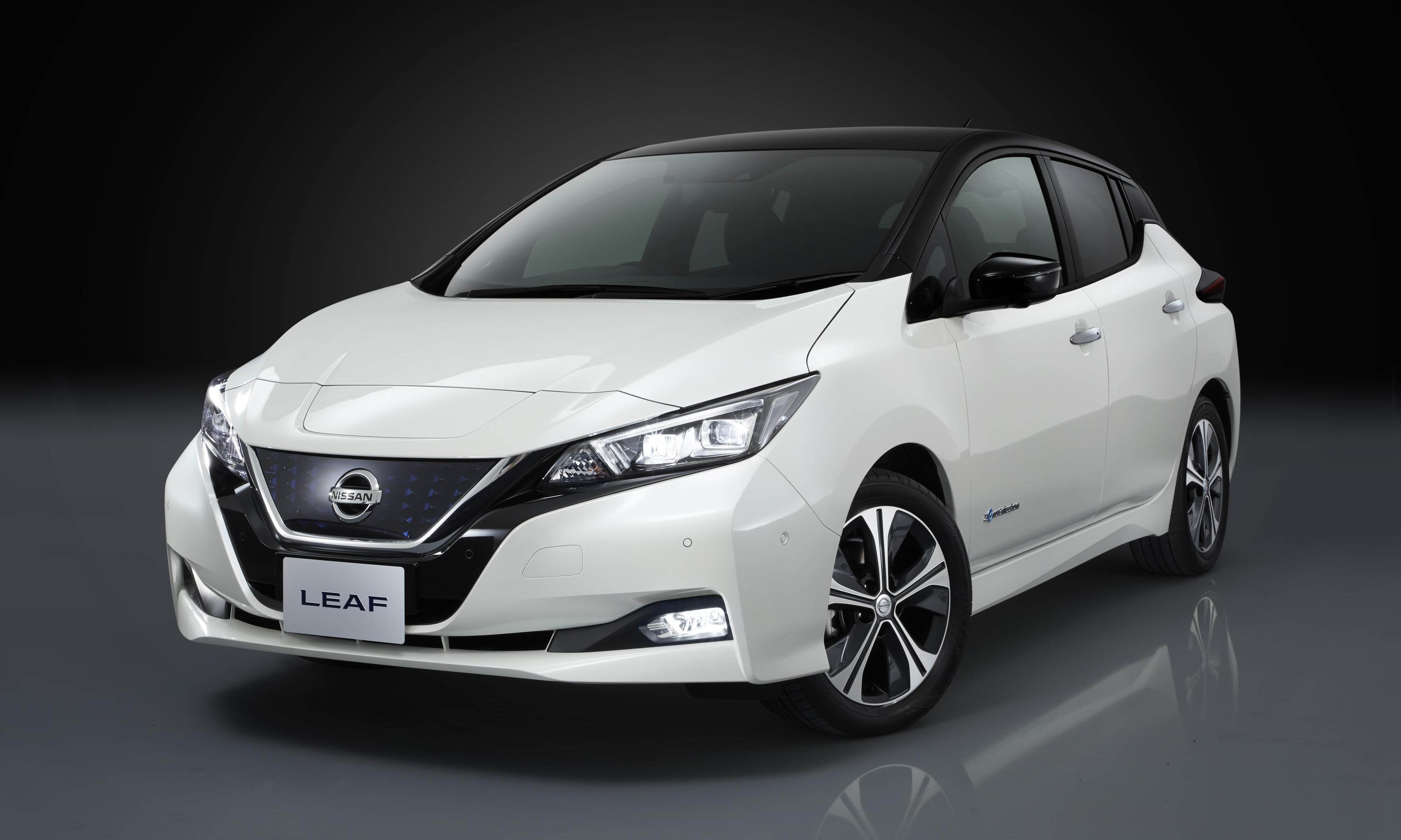 Here is the new Nissan Leaf, offering an improved range and revised styling .