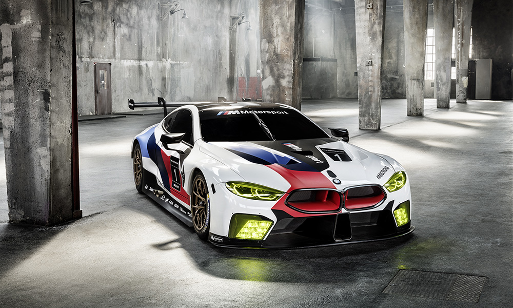 The BMW M8 GTE, a new flagship racer for the brand as it looks to return to Le Mans.