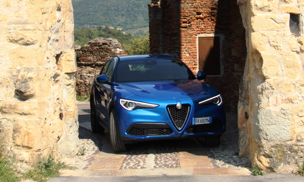 Parking sensors came in handy driving in Italian towns.