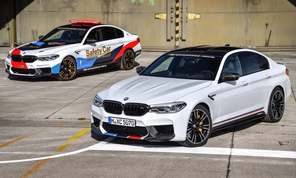 The new safety car debuts a handful of M Performance parts developed for the new M5.