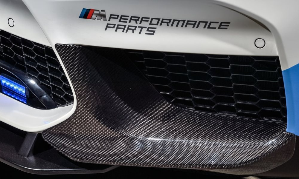 Certain M Performance Parts are fashioned from carbon-fibre.