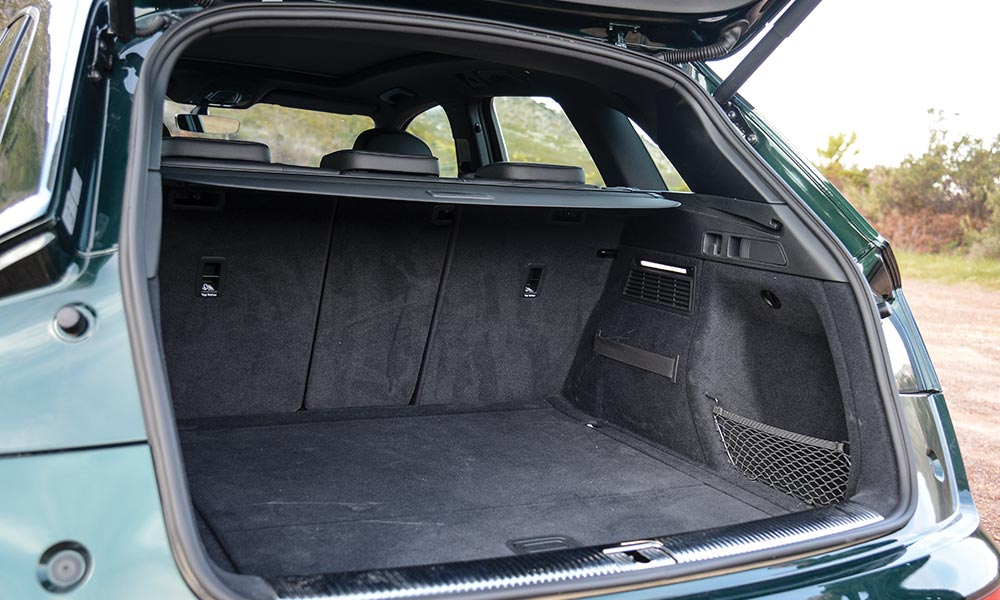 Boot trumps the GLC for space, but fold down the seats and the Mercedes gains the advantage.