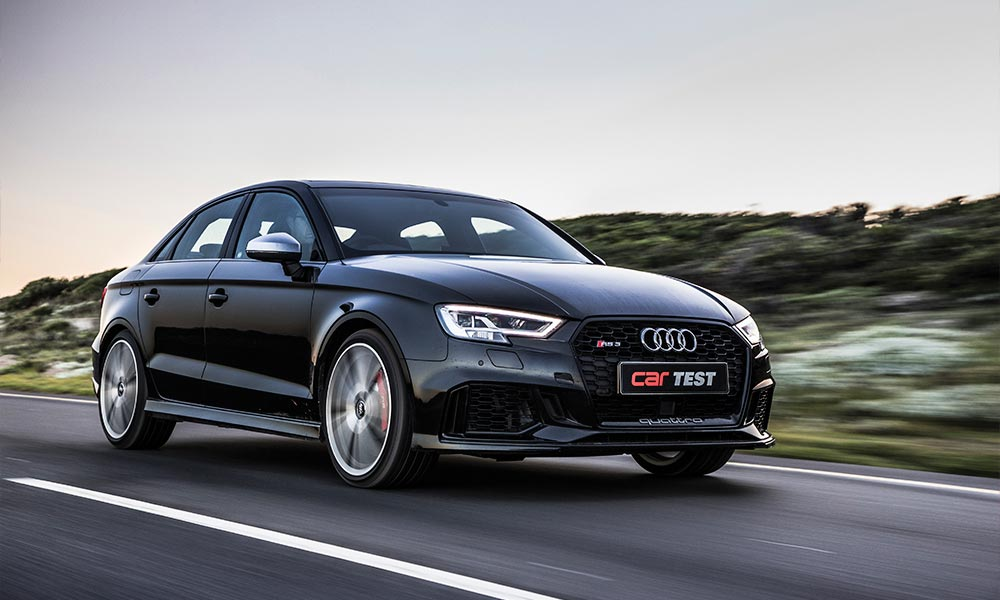 The Audi RS3 Sedan offers true sportscar pace and decent daily comfort.