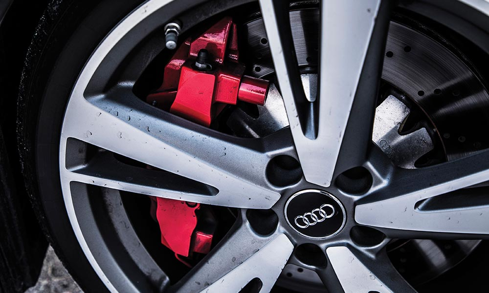 Red callipers are an option.