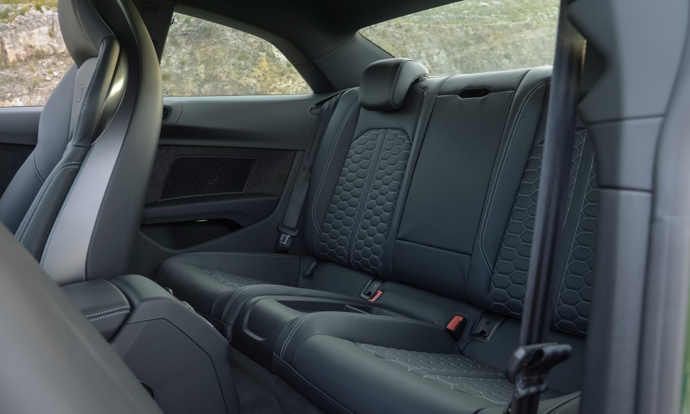 RS5 rear seats are more for show than for practical use.