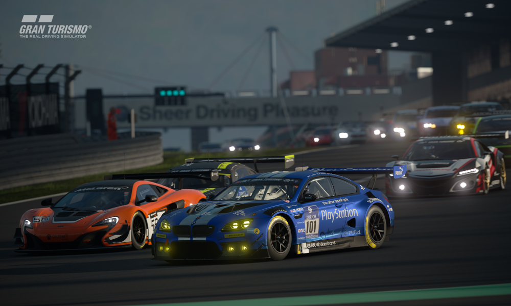GT Sport gives you the option of racing at different times of the day.