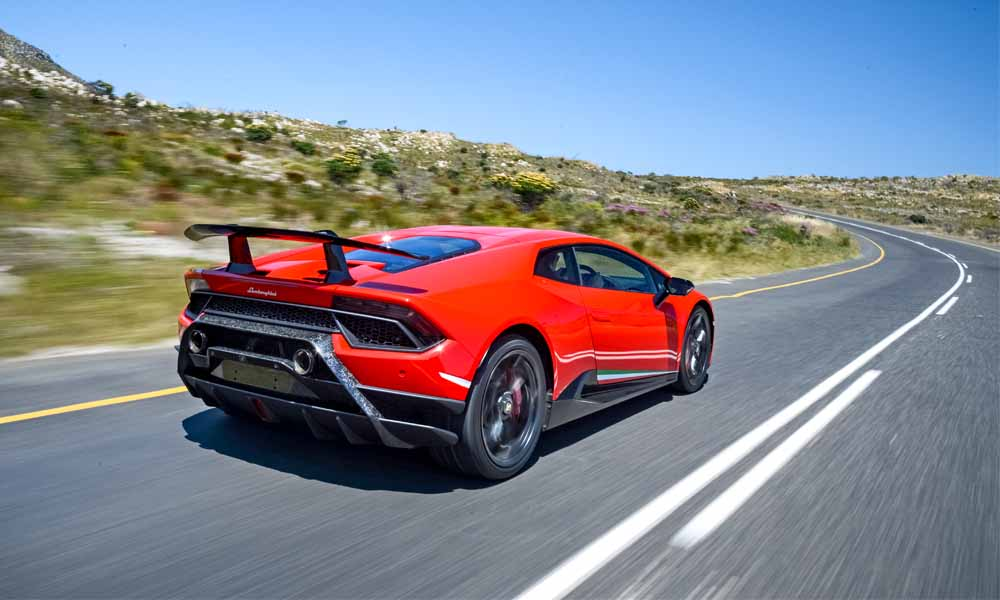 Performante offers a claimed 750% more downforce than standard Huracán.