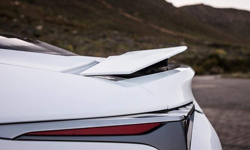 Rear Spoiler Deploys Automatically At 80 Km/h, Or Can Be Raised From Within  ...