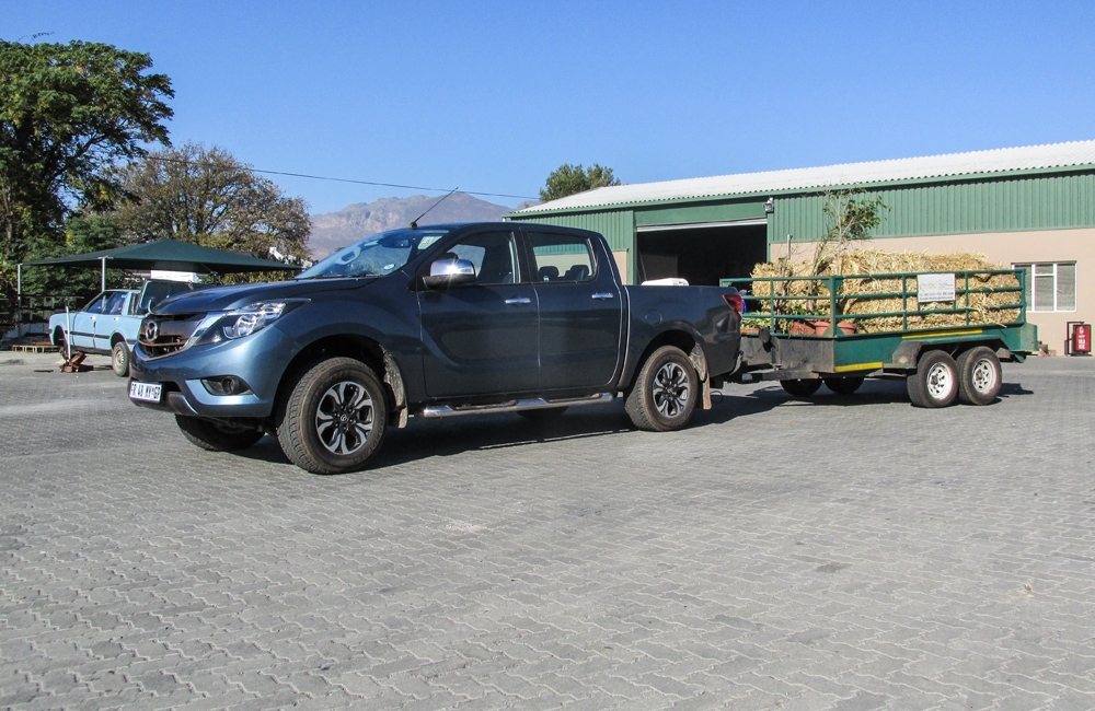 The Mazda has been doing towing duties since joing our long-term fleet.