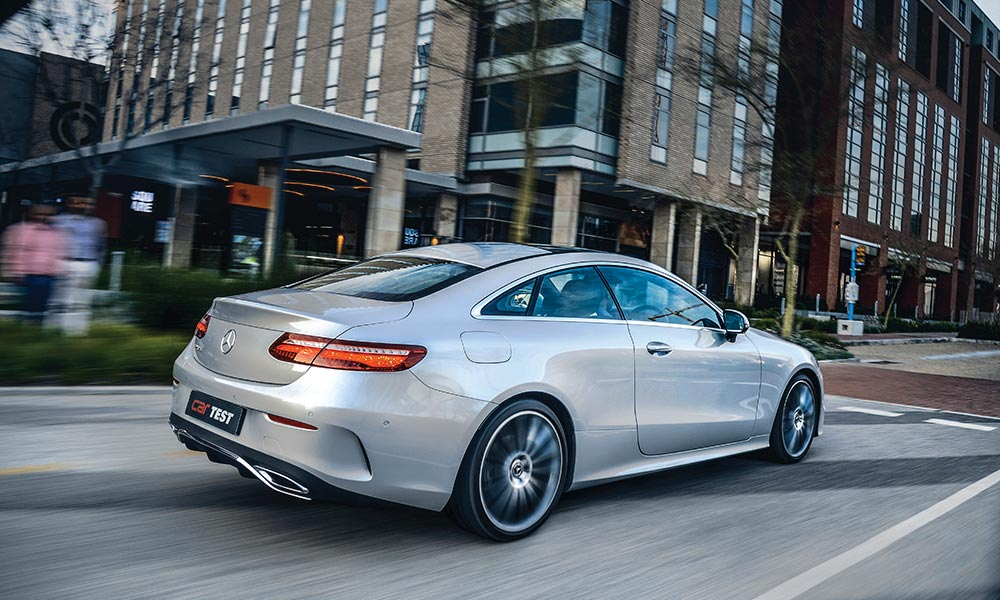 The Mercedes-Benz E220d Coupé is powered by 2,0-litre four-cylinder turbodiesel.