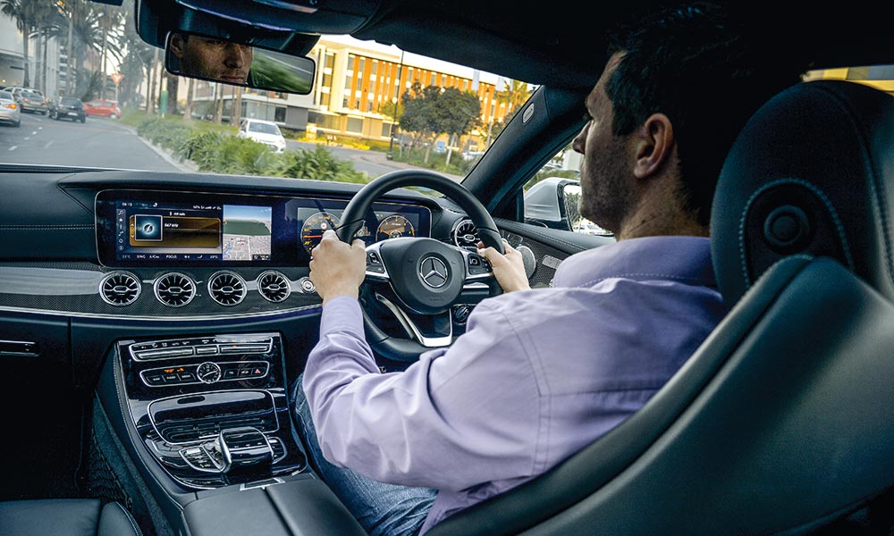 Spacious cabin is close to that of the S-Class in terms of design.