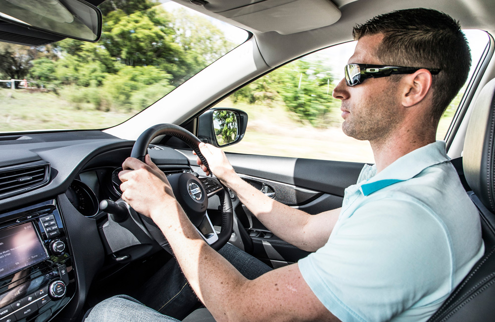 Comfortable driving position with all the main controls positioned around you.