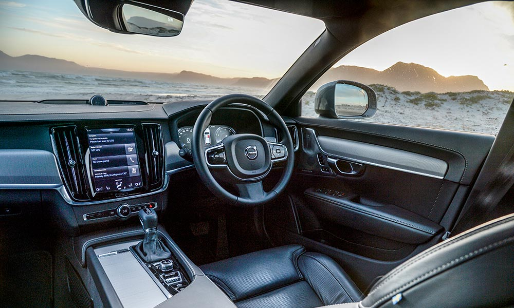 The interior is just as luxurious as you would expect.