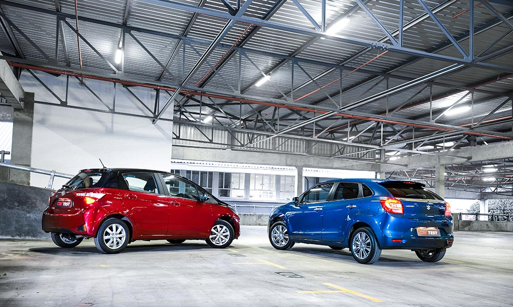 The Baleno is a significant 160 kg lighter than the Yaris.