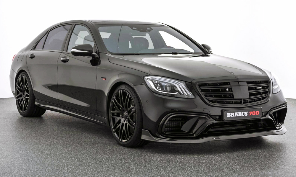 The S63 gains a front splitter and forged alloy wheels courtesy of Brabus.