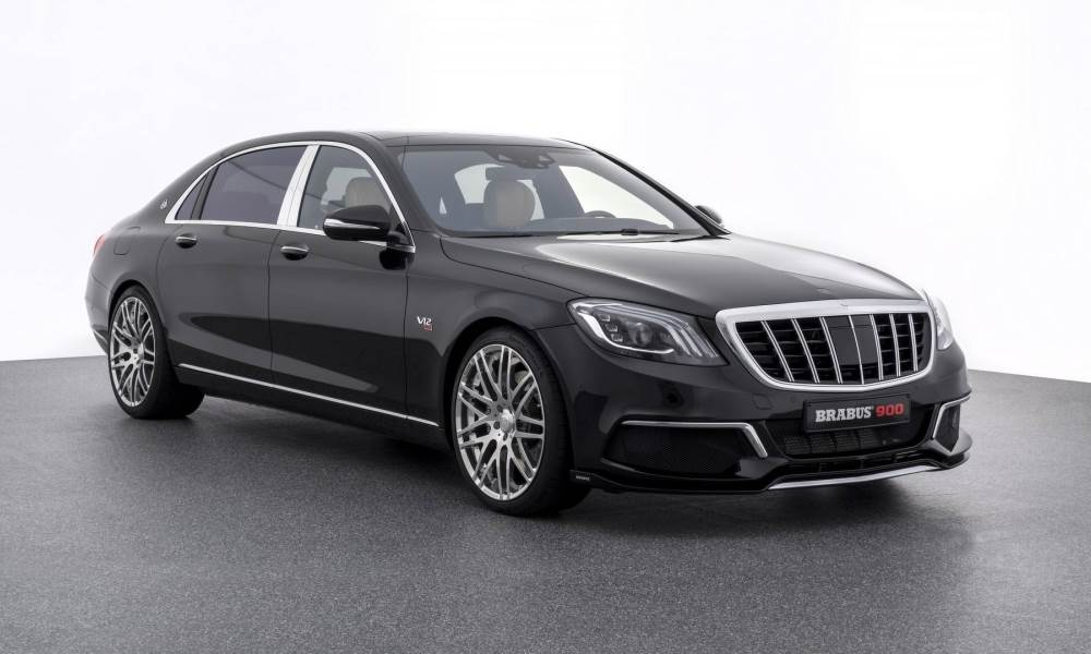 On the tuned Maybach S650, you will find a front splitter and custom alloys as well.