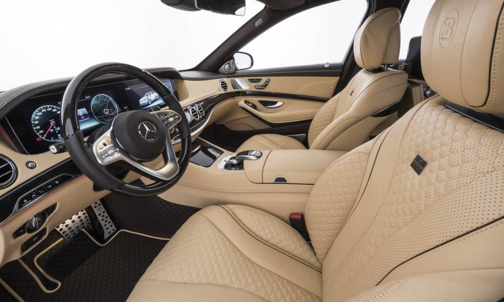 The Maybach likewise features a custom leather interior.