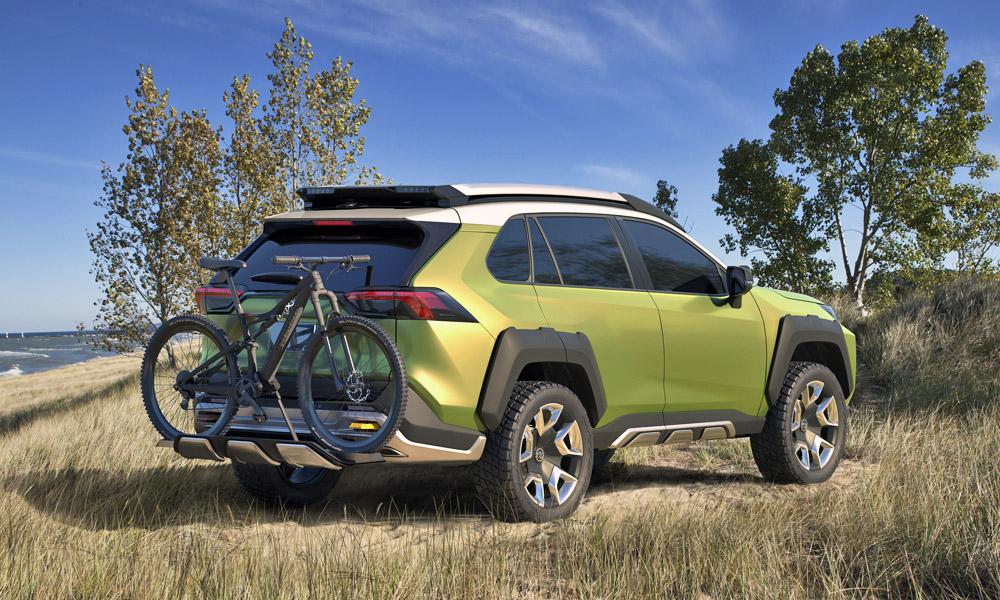 The concept also features an integrated bike rack.