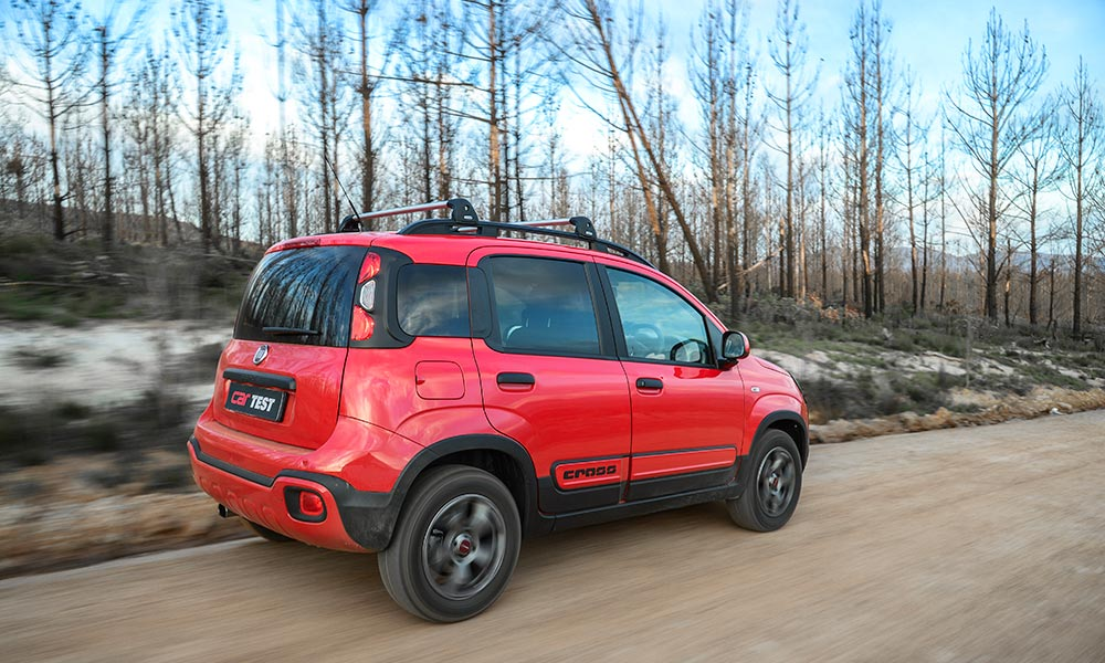 Long-travel suspension helps the vehicle cope off the beaten track.