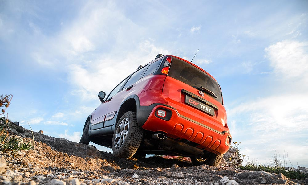 Electronic locking differential assists the AWD system over tricky terrain.