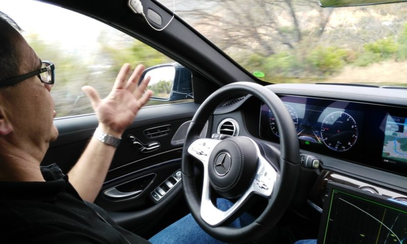 Autonous driving in a Mercedes S-Class