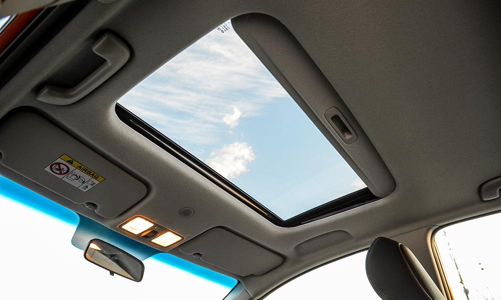 Sunroof is an optional extra available only on the flagship model.