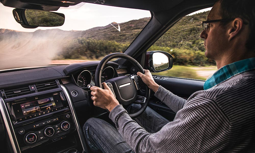 Upright driving position offers excellent visibility.