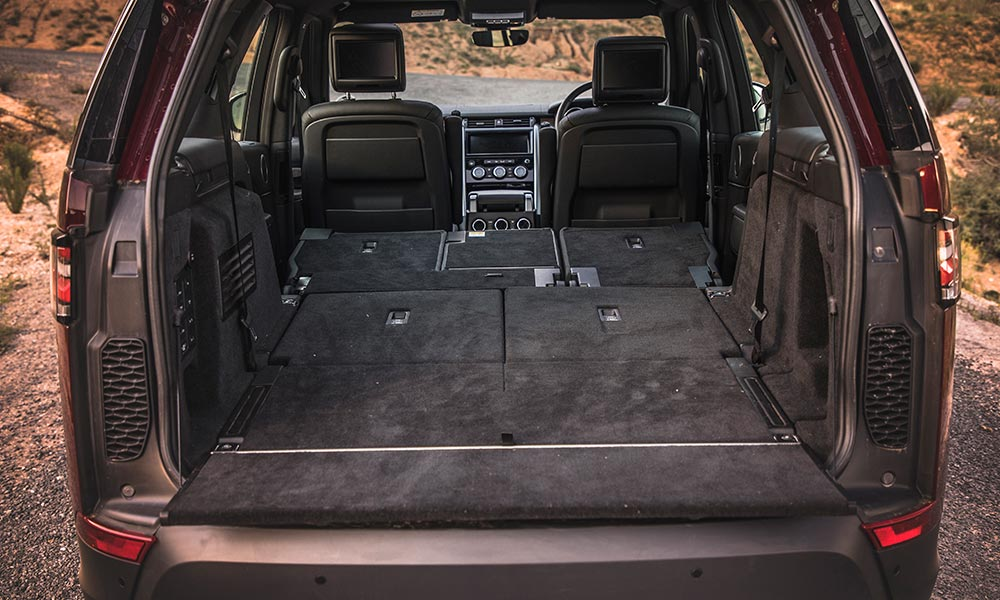 Optional third row of seats fold flat for optimal utility space.