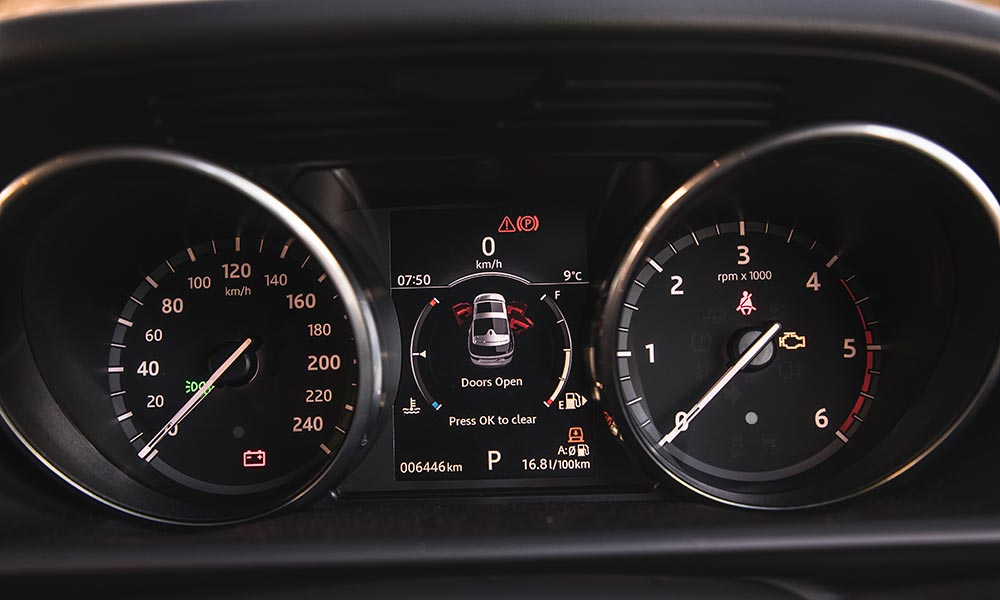 Instrument cluster is one of many shared components with rest of Solihull family.