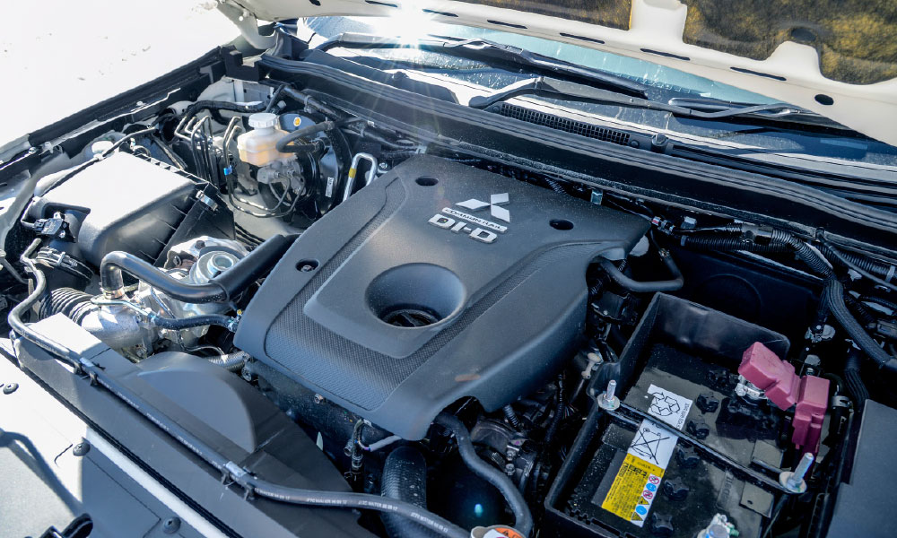 The refined 2,4-litre turbodiesel impressed in combination with the eight-speed automatic.
