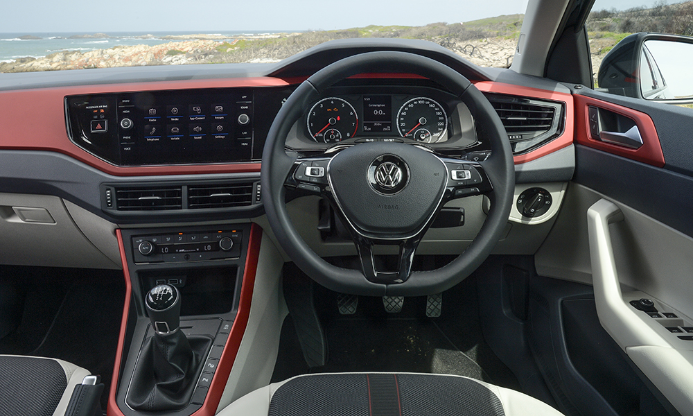The interior remains best in class, with tight fit and finish and a class-leading touchscreen infotainment system, spanning 6,5 inches on the Comfortline model.