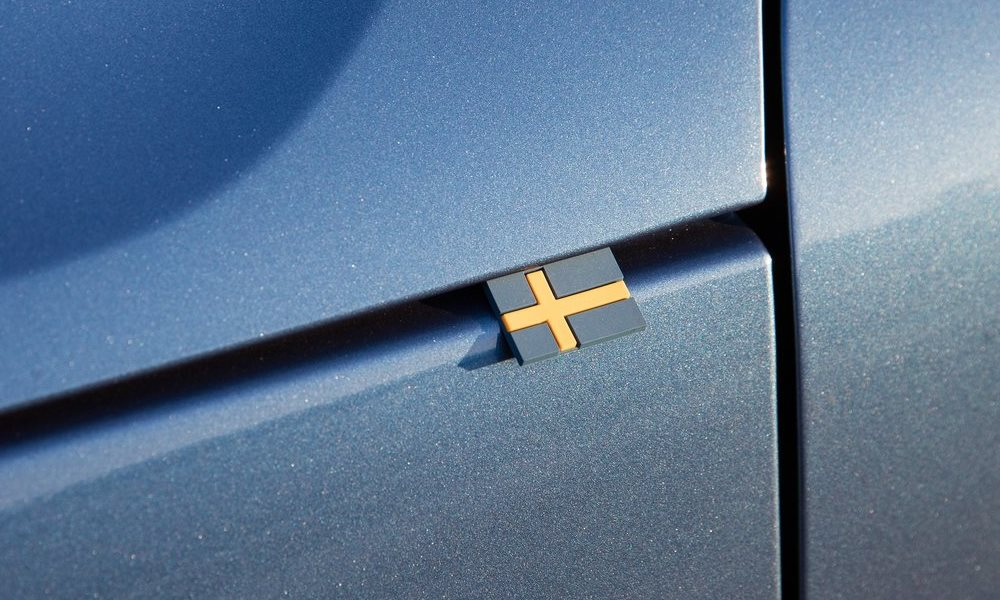 This rubber Swedish flag is a small but clever touch.