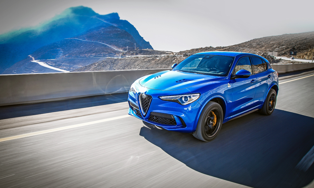 Stelvio Quadrifoglio is slightly quicker to 100 km/h than its Giulia counterpart.