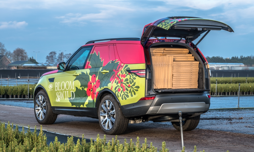 The Discovery Commercial, wrapped in Bloom & Wild livery.