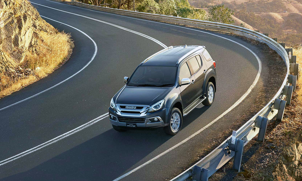 The MU-X shares some components with the Chevrolet Trailblazer.