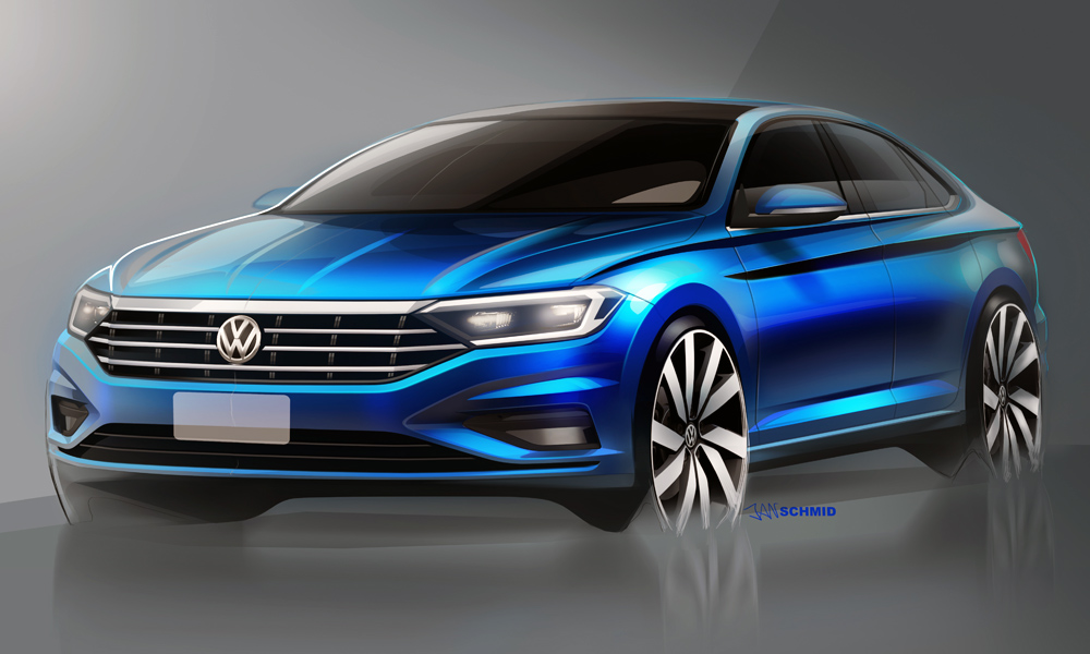 Volkswagen has released a series of design sketches teasing its next-generation Jetta.
