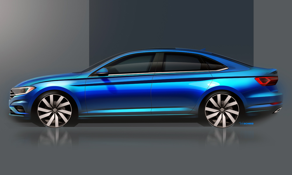 The new Jetta will likely grow in length.