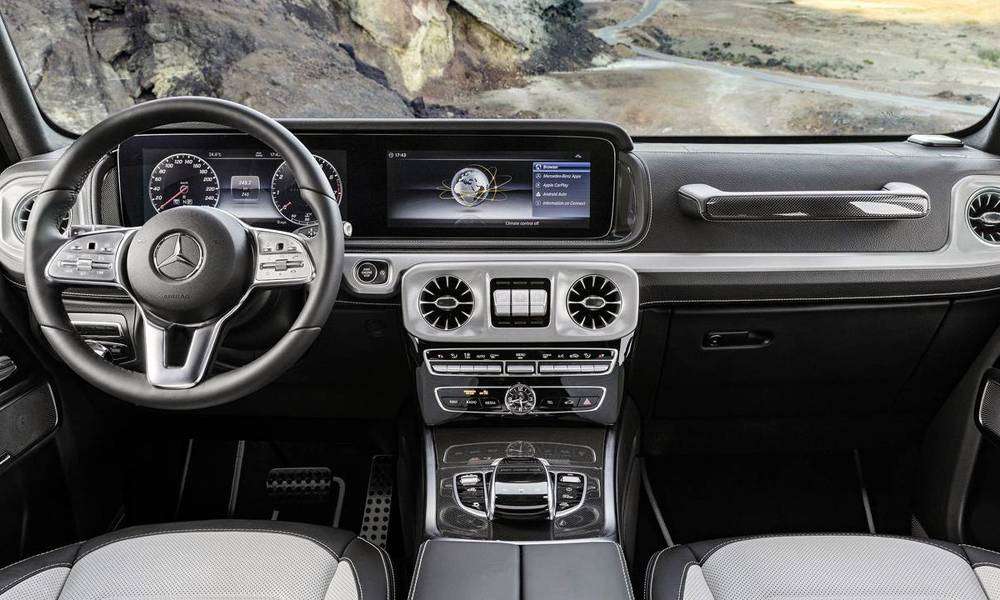 Mercedes-Benz has released the first official images of the interior of the new G-Class.