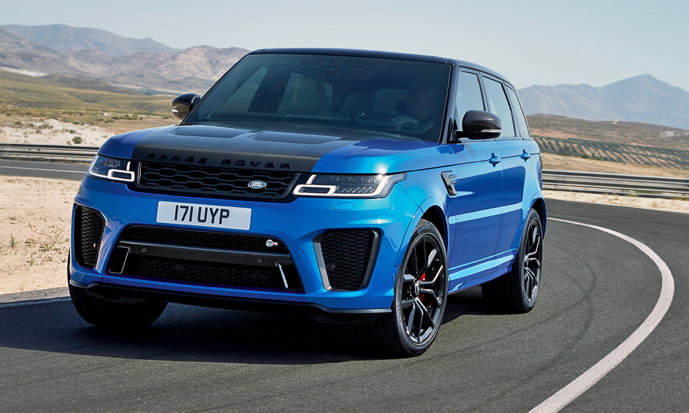 The SVR (now with even more power) again sits at the top of the Range Rover Sport.